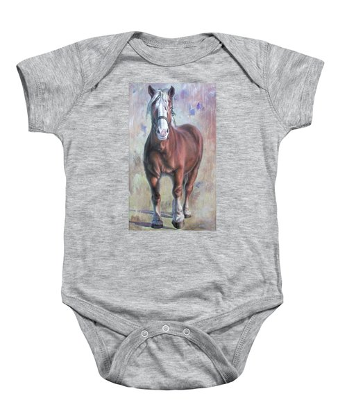Arthur The Belgian Horse Baby Onesie
