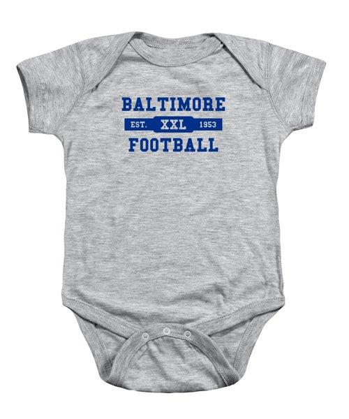 Baltimore Colts Retro Shirt Baby Onesie
