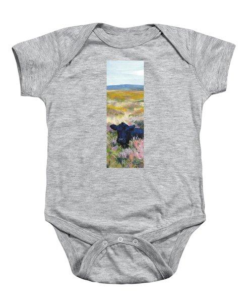 Black Cow Dartmoor Baby Onesie