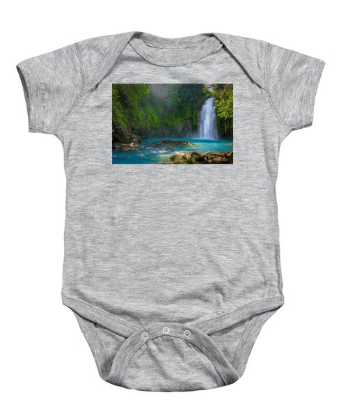Blue Waterfall Baby Onesie