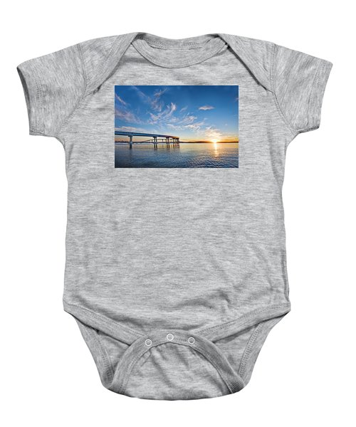 Bridge Sunrise Baby Onesie