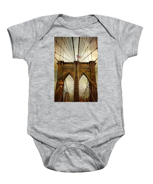 Brooklyn Bridge Twilight Baby Onesie