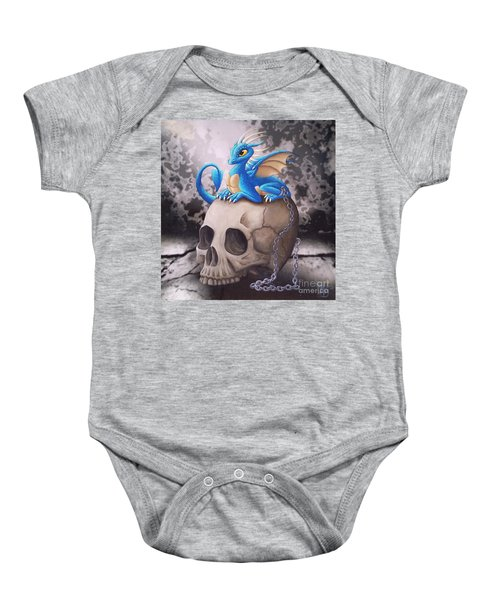 Captive Dragon On An Old Skull Baby Onesie