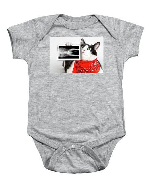 Cat With X Ray Plate Baby Onesie