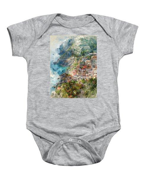 Cinque Terre In Italy Baby Onesie
