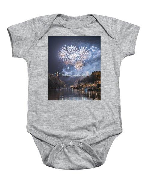Clifton Suspension Bridge Fireworks Baby Onesie