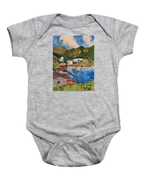 Coastal Village, Newfoundland Baby Onesie