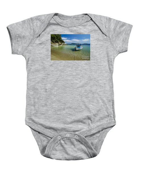 Colorful Boat Baby Onesie