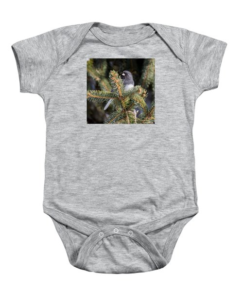Baby Onesie featuring the photograph Dark-eyed Junco by Ricky L Jones