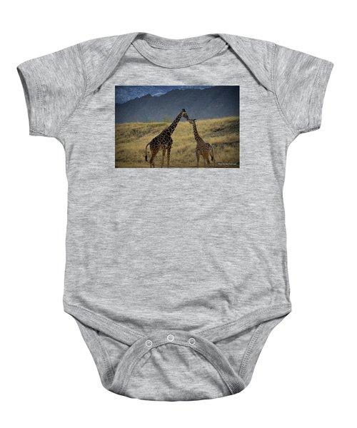 Desert Palm Giraffe 001 Baby Onesie
