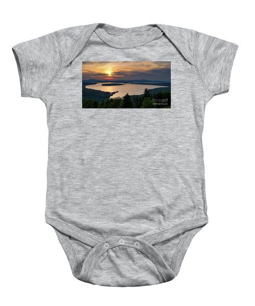 Dusk, Mooselookmeguntic Lake, Rangeley, Maine  -63362-63364 Baby Onesie