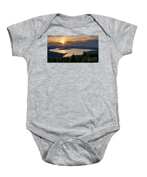 Dusk, Mooselookmeguntic Lake, Rangeley, Maine  -63362-63364 Baby Onesie