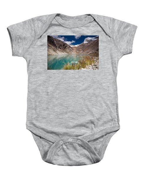 Emerald Green Mountain Lake At 4500m Baby Onesie