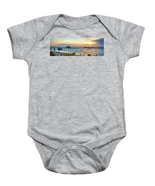 Face Rock At Sunset Baby Onesie
