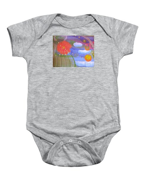 Baby Onesie featuring the drawing Fantasy Garden by Rod Ismay