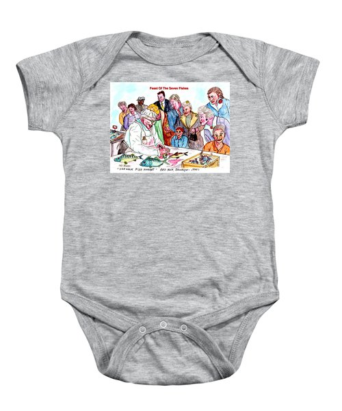 Feast Of The Seven Fishes Baby Onesie