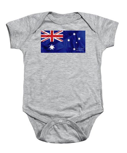 Flag Of Australia Baby Onesie