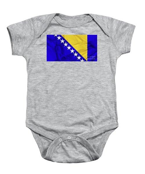 Flag Of Bosnia Baby Onesie