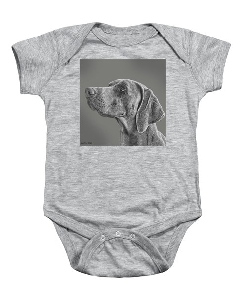 Gray Ghost Baby Onesie