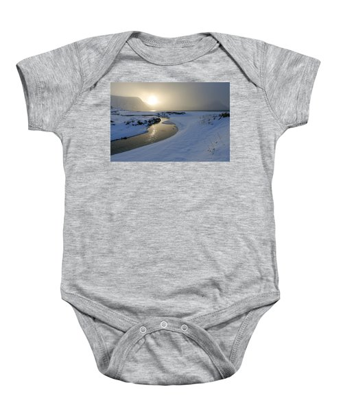 Haukland Beach, Lofoten Baby Onesie by Dubi Roman