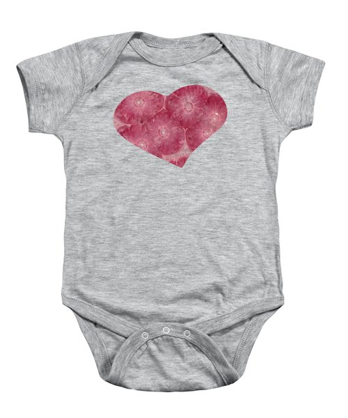 Heart Shape Stone Art Baby Onesie