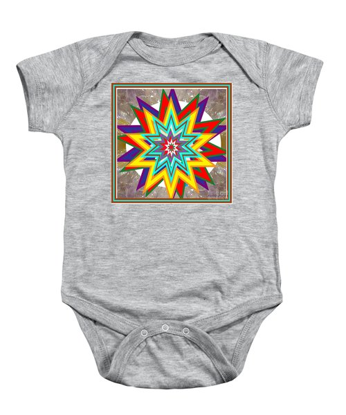 Holy Star White Purple Blue On Crystal Stone Marble Unique Shades Tones Textures Buy Wall Decoration Baby Onesie by Navin Joshi
