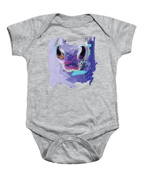 Baby Onesie featuring the painting Horse Nose by Go Van Kampen