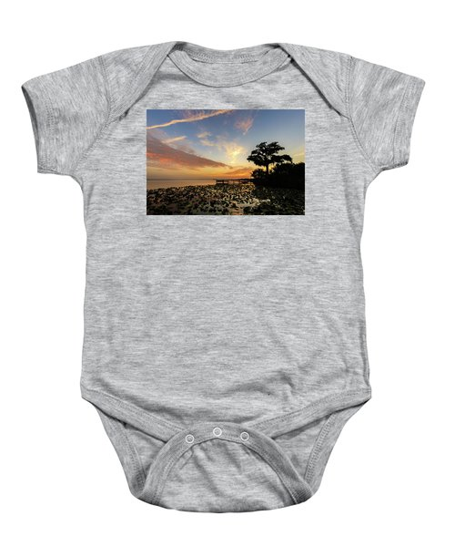 Lake Sunrise Baby Onesie