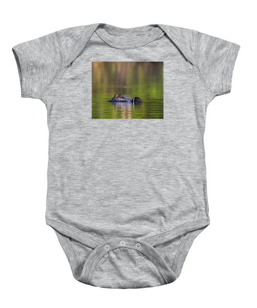 Loon Chick Yawn Baby Onesie