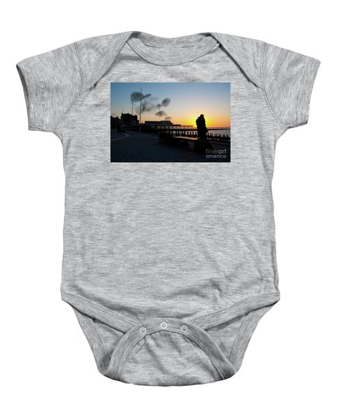 Love Birds At Sunset Baby Onesie