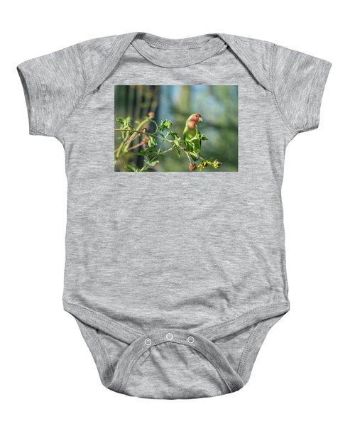 Lovely Little Lovebird  Baby Onesie by Saija Lehtonen