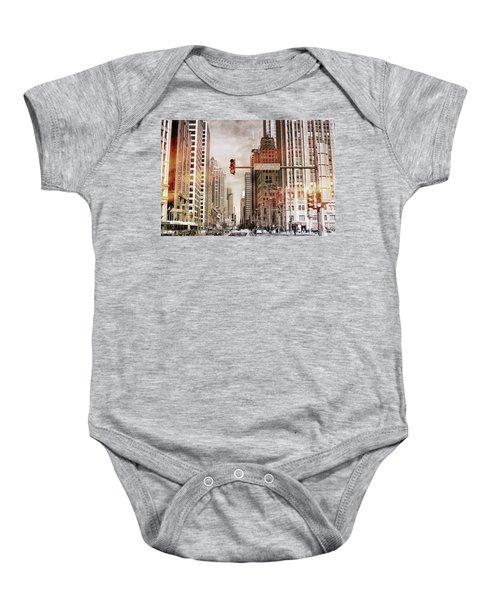Michigan Ave - Chicago  Baby Onesie