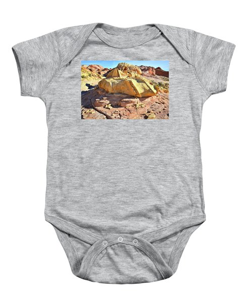 Morning In Wash 3 In Valley Of Fire Baby Onesie