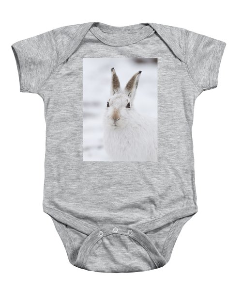 Mountain Hare In The Snow - Lepus Timidus  #1 Baby Onesie