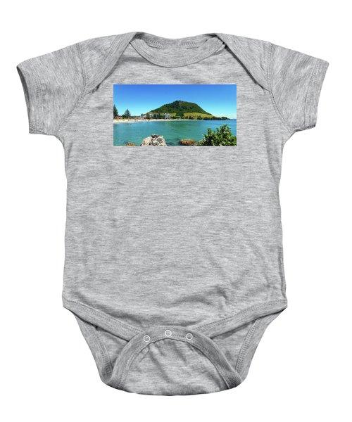 Mt Maunganui Beach 7 - Tauranga New Zealand Baby Onesie