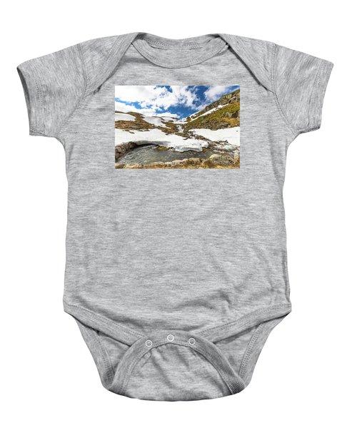 Norway Mountain Landscape Baby Onesie