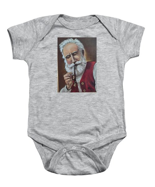 Old German With Pipe Baby Onesie