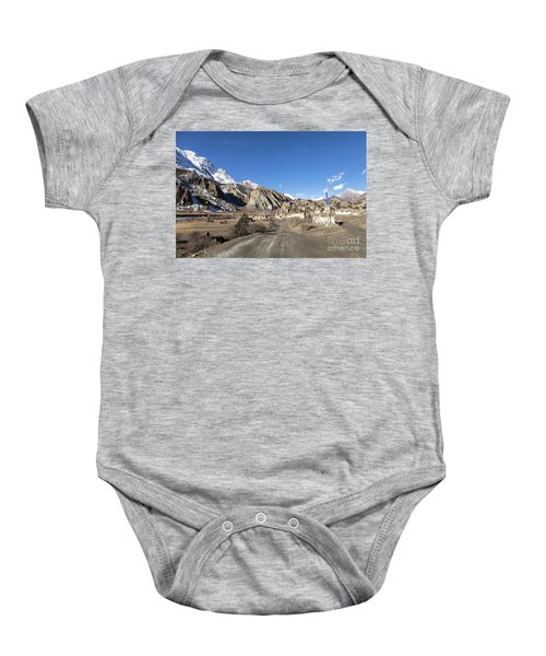 On The Annapurna Circuit Trekking Near Manang In Nepal Baby Onesie
