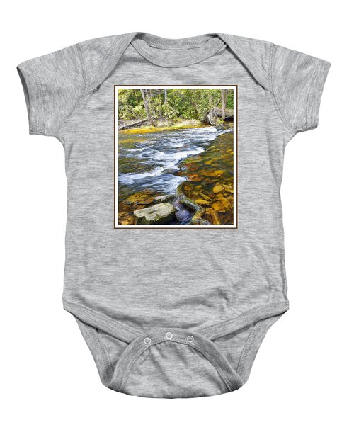 Pennsylvania Mountain Stream Baby Onesie