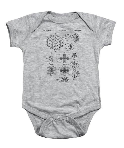 rubik's cube Patent 1983 Baby Onesie