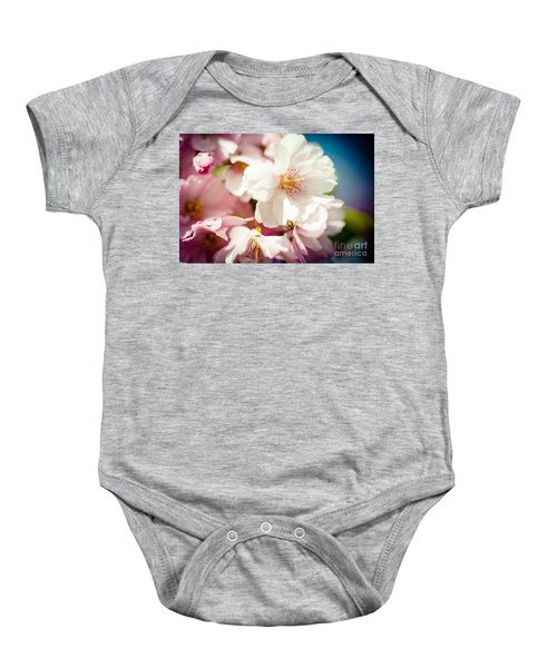 Sakura Blossoms Pink Cherry Artmif.lv Baby Onesie