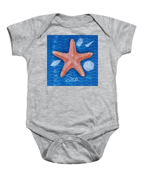 Seashells On Blue-sea Baby Onesie