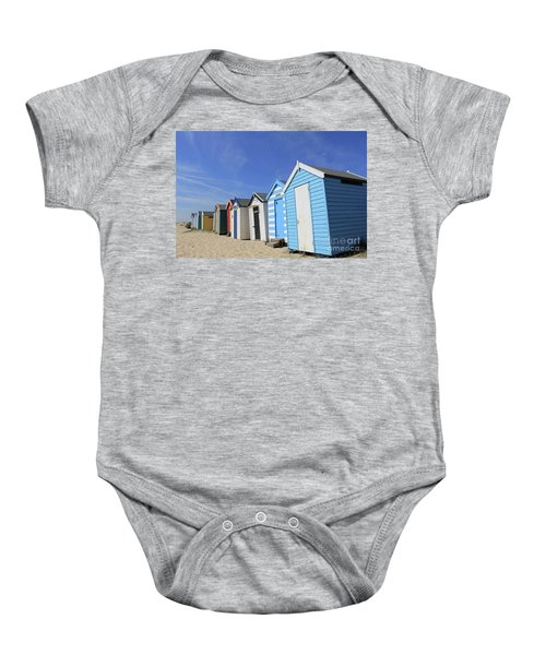 Southwold Beach Huts Baby Onesie