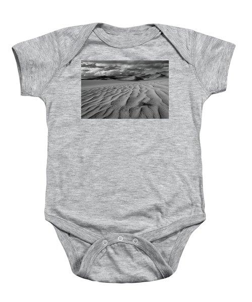 Storm Over Sand Dunes Baby Onesie