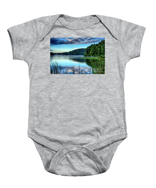 Summer Morning On The Lake Baby Onesie