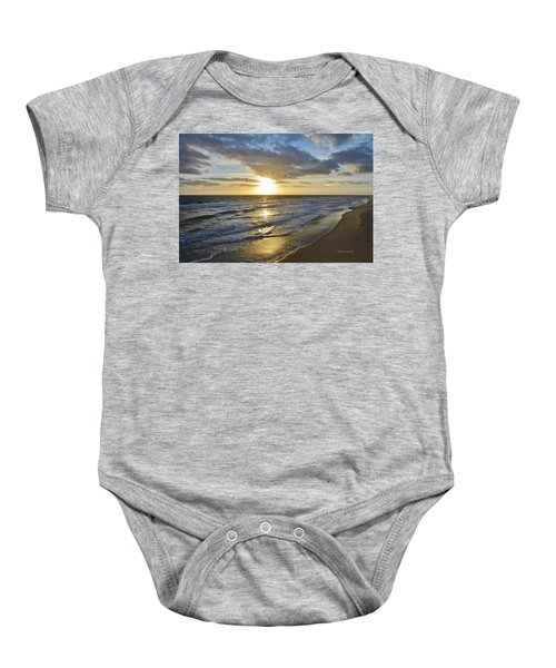 Sunrise On The Banks  Baby Onesie