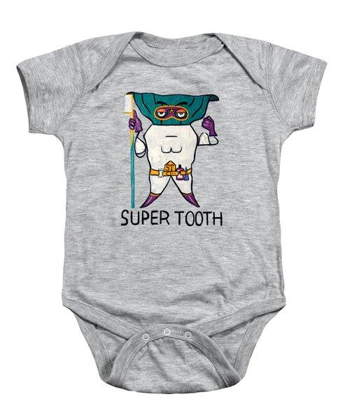 Super Tooth Baby Onesie
