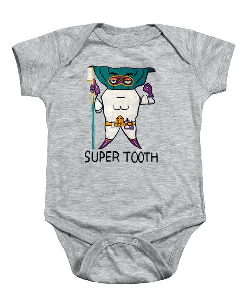 Super Tooth Baby Onesie