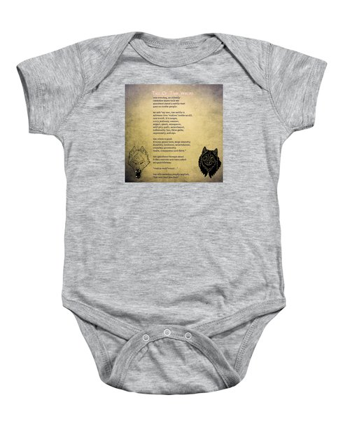 Tale Of Two Wolves - Art Of Stories Baby Onesie