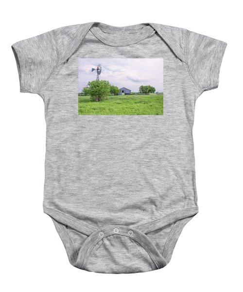 Texas Windmill Baby Onesie